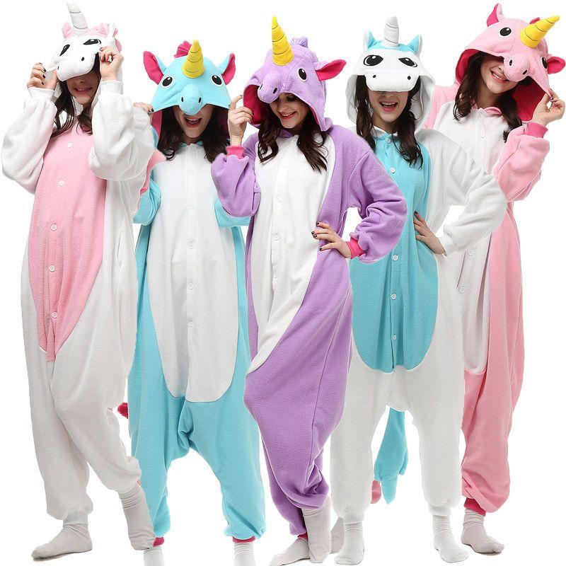 Unisex Adult Pajamas Kigurumi Anime Cosplay Costume Animal Onesis Sleepwear Xmas