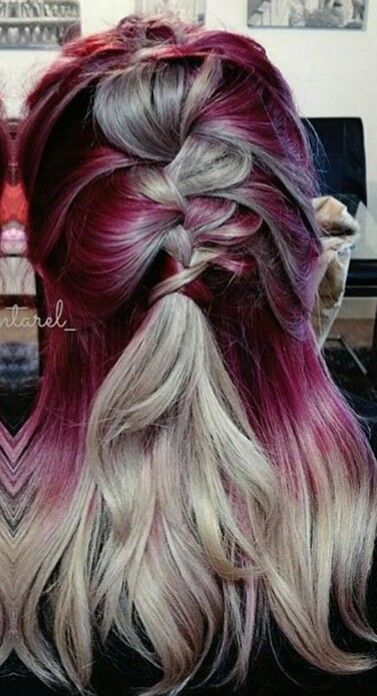 Luxury Hair Color Red Violet