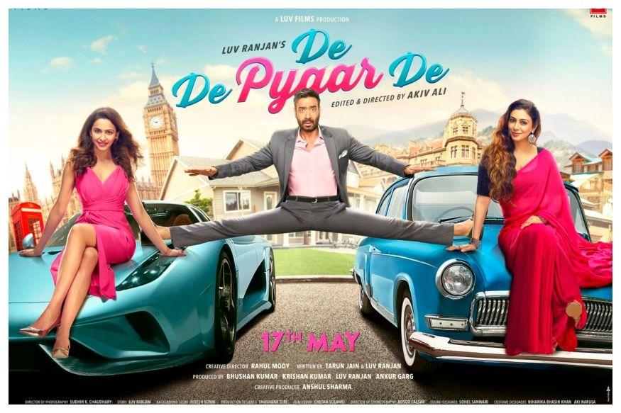 De De Pyaar De First Look Ajay Devgn In Van Damme S Epic Split Between Tabu And Rakul Preet Hindi Movies Latest Bollywood Movies New Hindi Movie