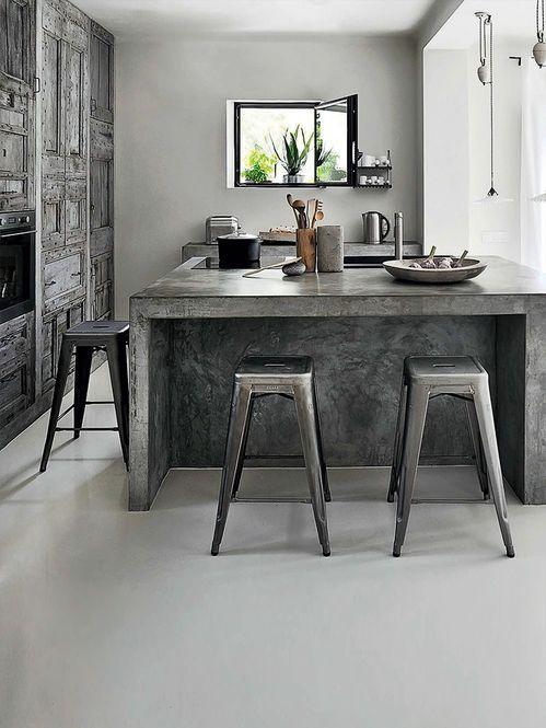 Concreto na cozinha Designer Amelie Vigneron Fotógrafo Henri Del