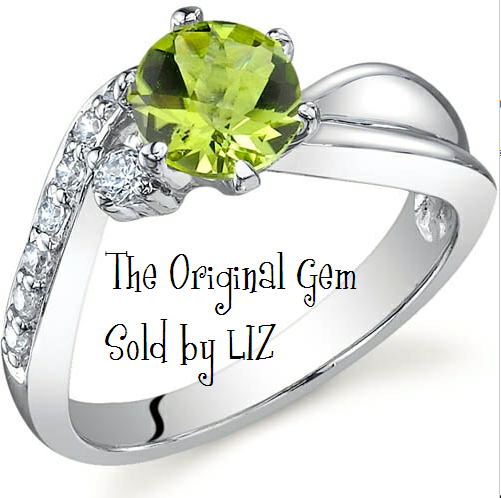 'Genuine Peridot .925 Sterling Silver Ring Size 5 to9' is going up for auction at 10pm Sun, Sep 23 with a starting bid of $1.