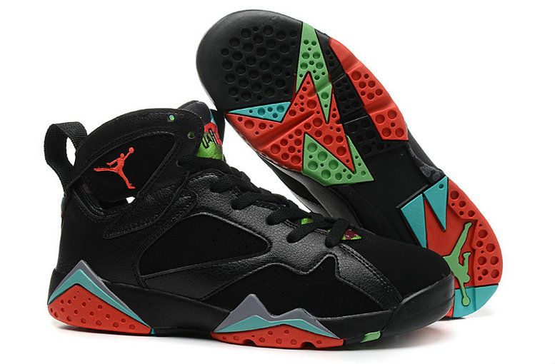 new style caf34 8bf20 Big Boys Shoe Air Jordan 7 Youth Barcelona Nights Black Blue Graphite Retro  Infrared 23