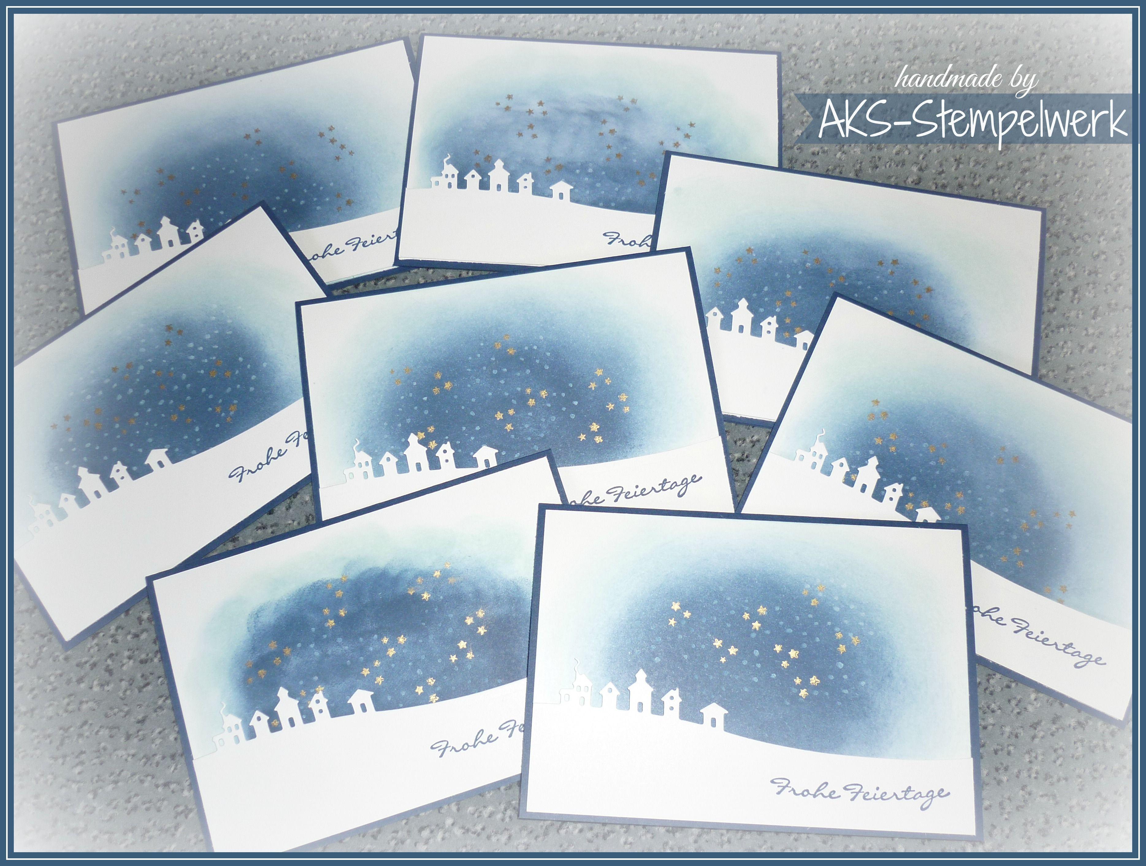 Stampin Up Weihnachtskarten Wintergruß Winterlandschaft