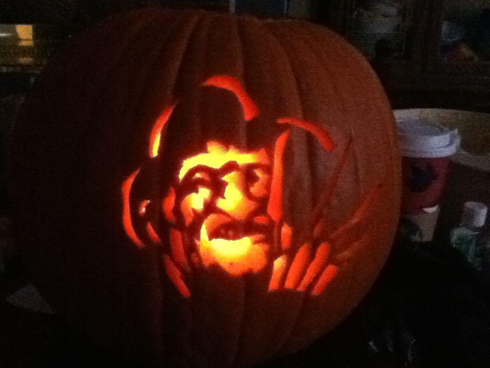 Halloween Movie Pumpkin Stencil.Halloween Film Pumpkin Horror Movie Fans Halloween Film Pumpkin
