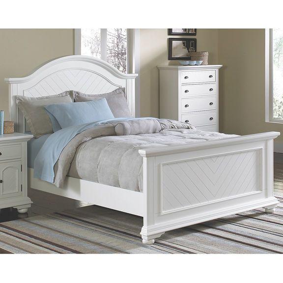 Bedroom Furniture - Brook Off-White Finish King Panel Bed $1,09997