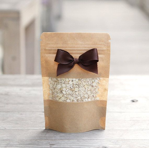e63d51f54922 10 x Kraft paper bags / 3 Size - Small or Medium or Large / Zip lock ...