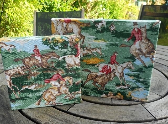 http://folksy.com/items/6486227-VIntage-fabric-Horse-Racing-Jumping-Hunting-Picture