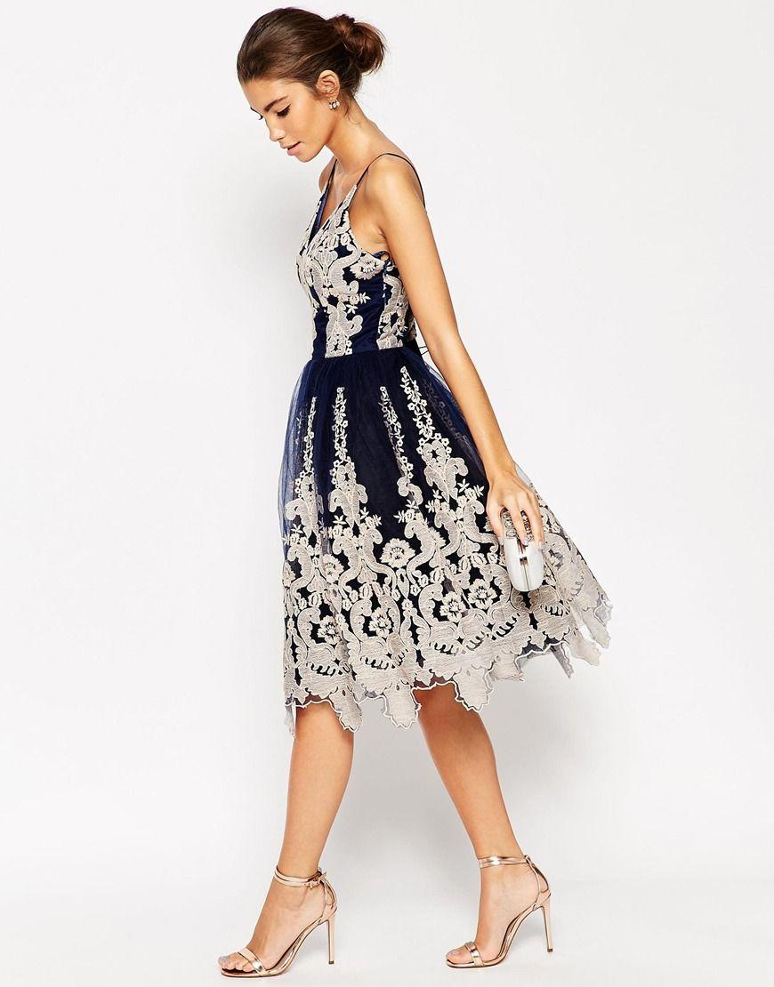 Cami strap evening dress