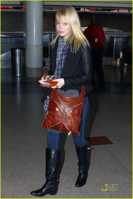 Emma Stone spotted wearing Frye's Dorado riding boot | my style ...