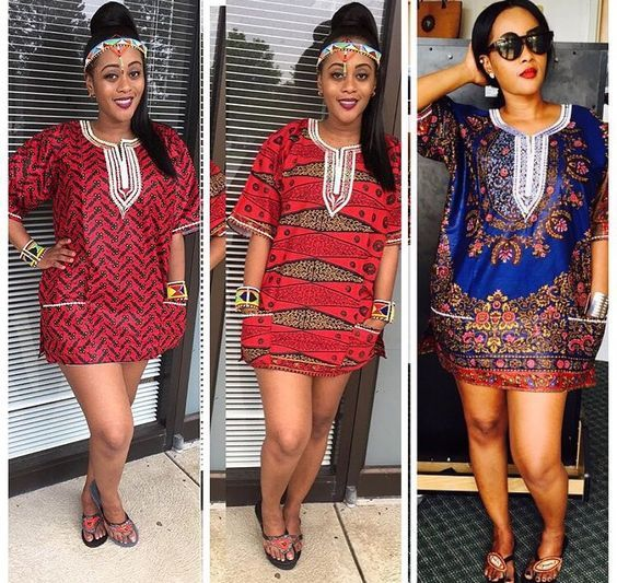 a0d543f522a85 Online Hub For Fashion Beauty And Health  Stylishly Lovely Short Ankara And  Danshiki Dresses For The Damsels