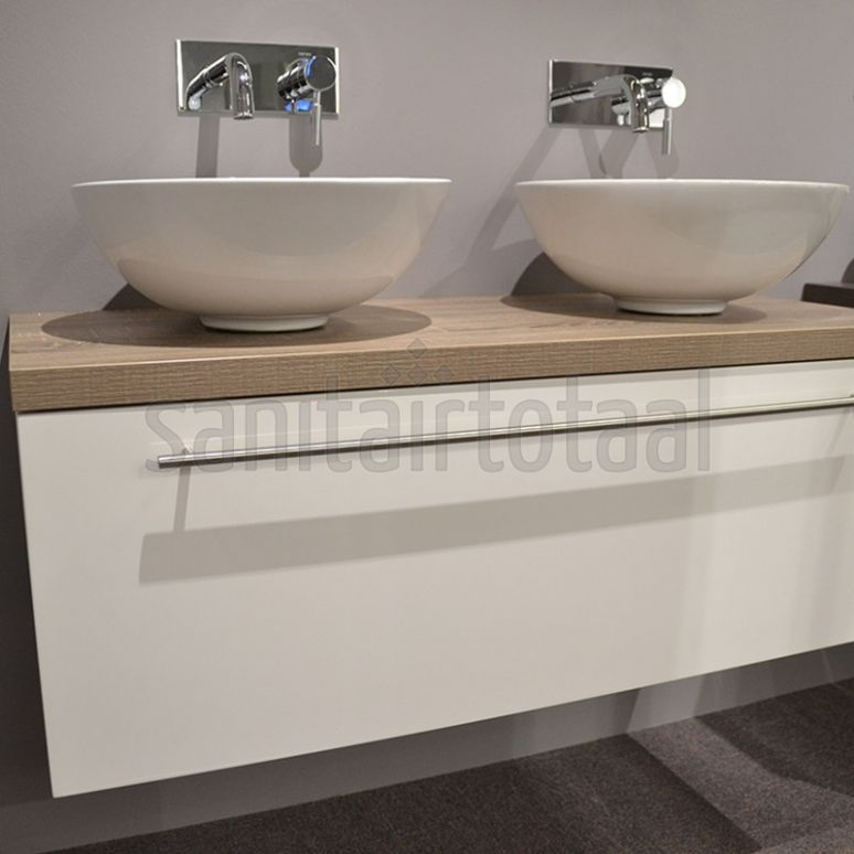 Landelijk badkamermeubel, badkamer waskom, waskommen, wit ...