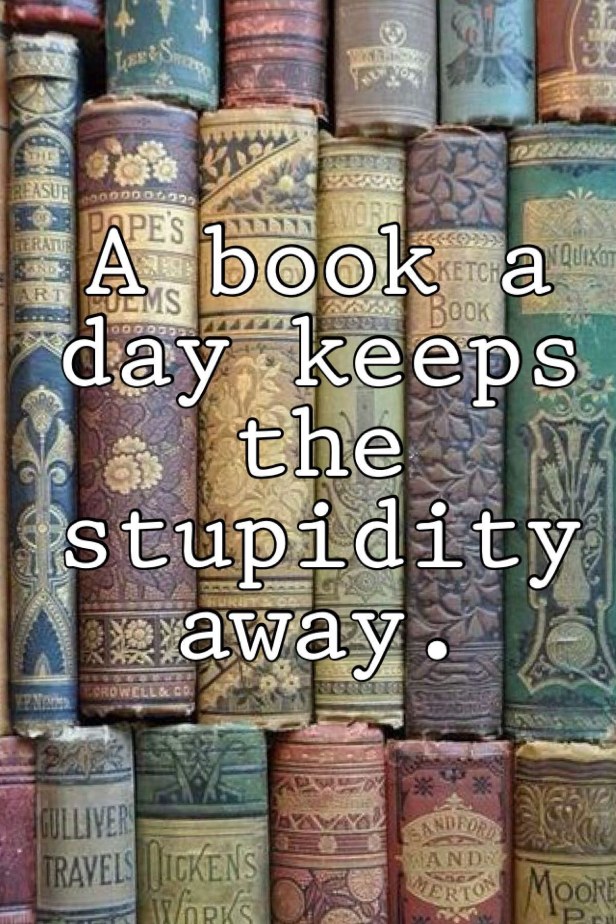 A Book a Day Keeps the Stupidity Away in 2019