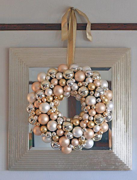Do It Yourself Bright Ornament Wreath Christmas Ornament Wreath Christmas Wreaths Christmas Diy