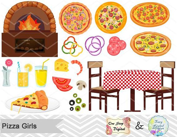 Little Girl Cooking Clipart
