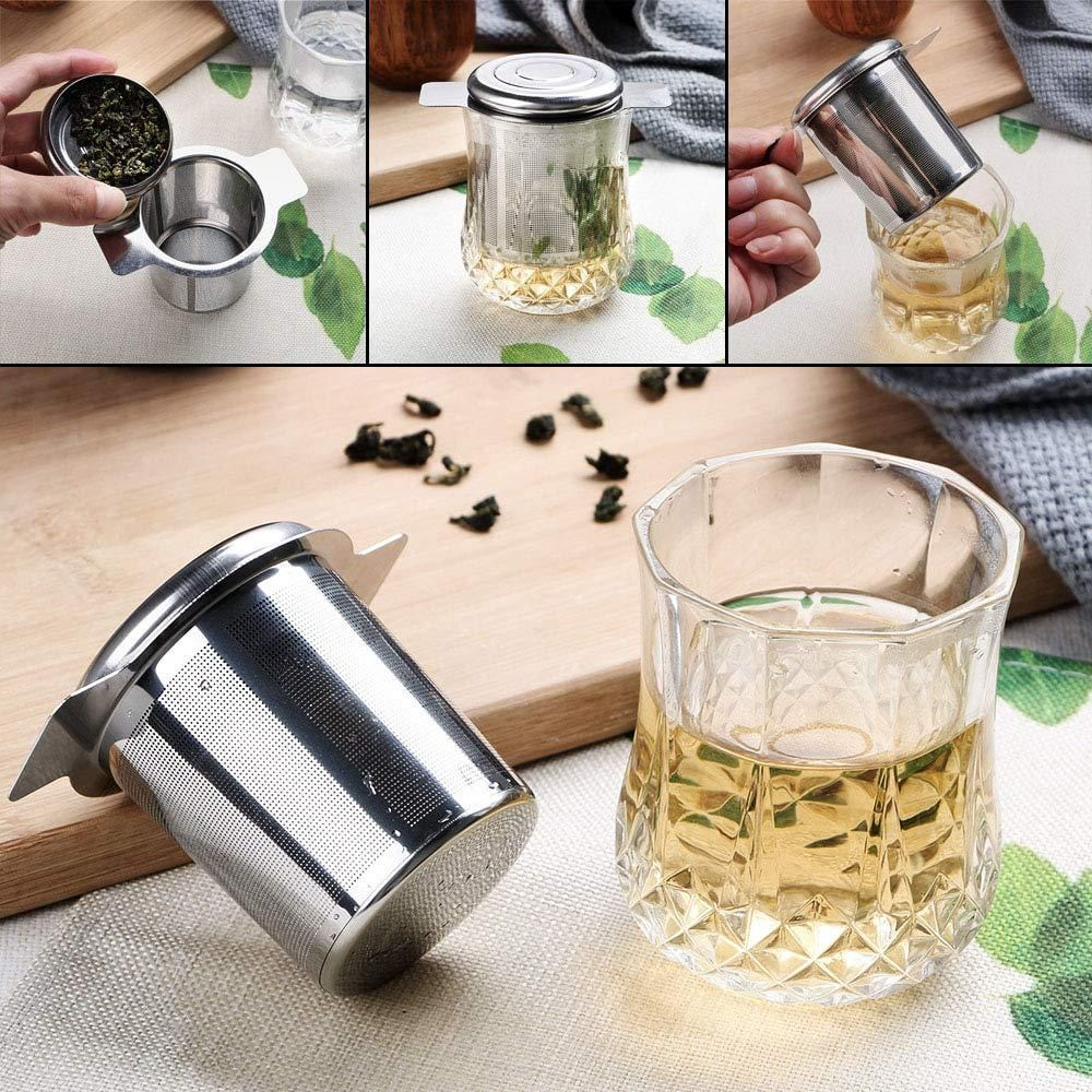 HILIFE Tea Infusers with 2 Handles Basket Reusable Fine
