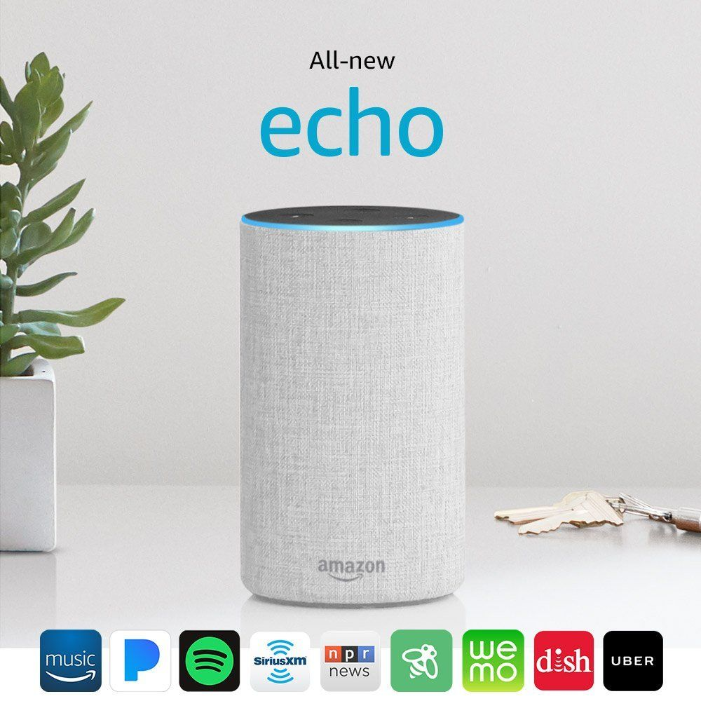 Allnew echo 2nd gen with improved sound powered by