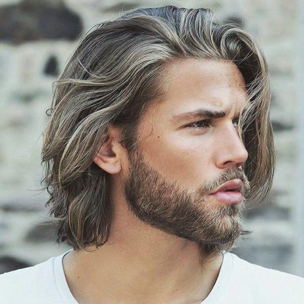 langes haar seitlich gescheitelt | medium length hair men