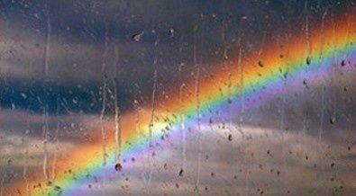 Rainbow & raindrops.