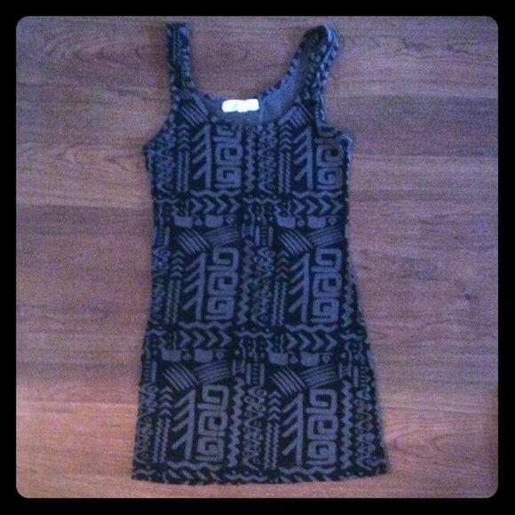 Forever 21 printed dress Black/grey cotton dress Forever 21 Dresses