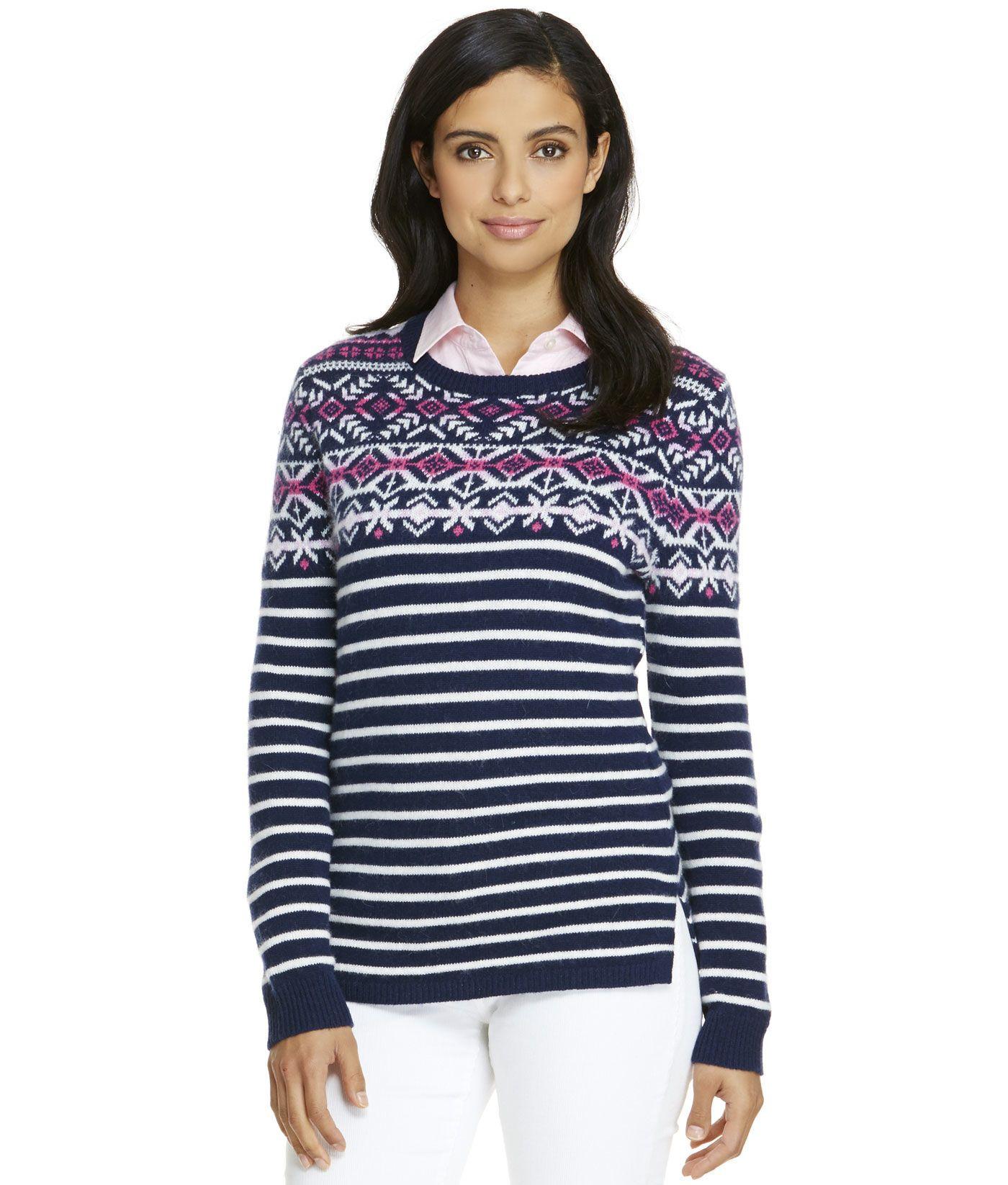 Shop Fair Isle Stripe Sweater at vineyard vines | Winter Fashion ...