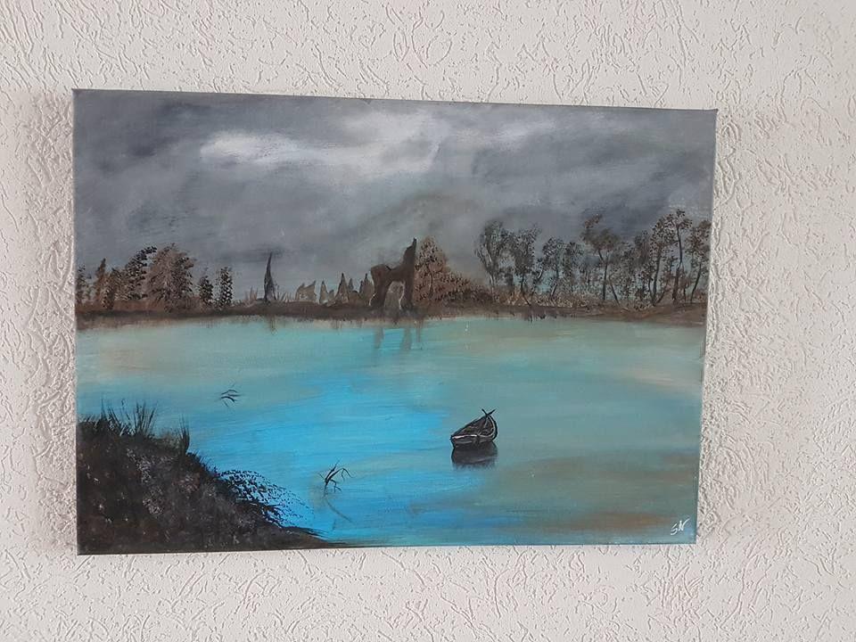 Acryl Kunst Acrylmalerei Abstrakt Leinwand Keilrahmen 50 x 70 m Das ...