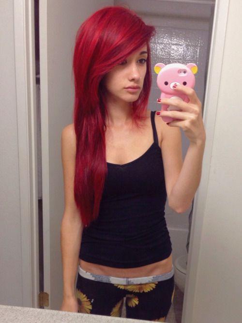 tiny-cup-of-tea | Red scene hair, Scene hair, Red hair