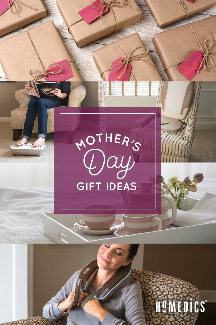 Mother's Day gift ideas from HoMedics. Over 30 at-home massage and spa  products including neck massagers, foot massagers and foot baths to pamper  your Mom ...
