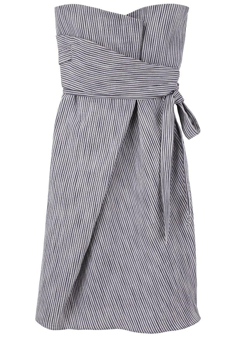 striped bustier dress.