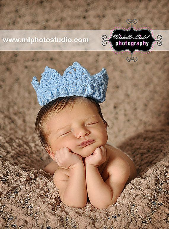Blue Crown for the Prince Baby Boy Photography Prop Sizes Preemie ...