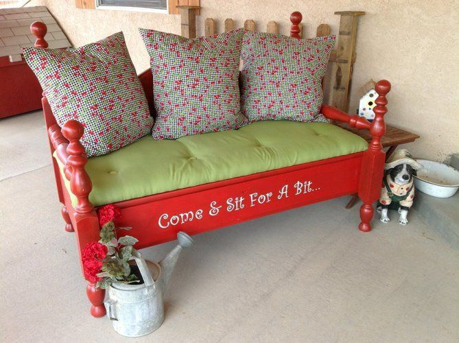 jodi mihelichs re purposed garden bench this is a bench i made