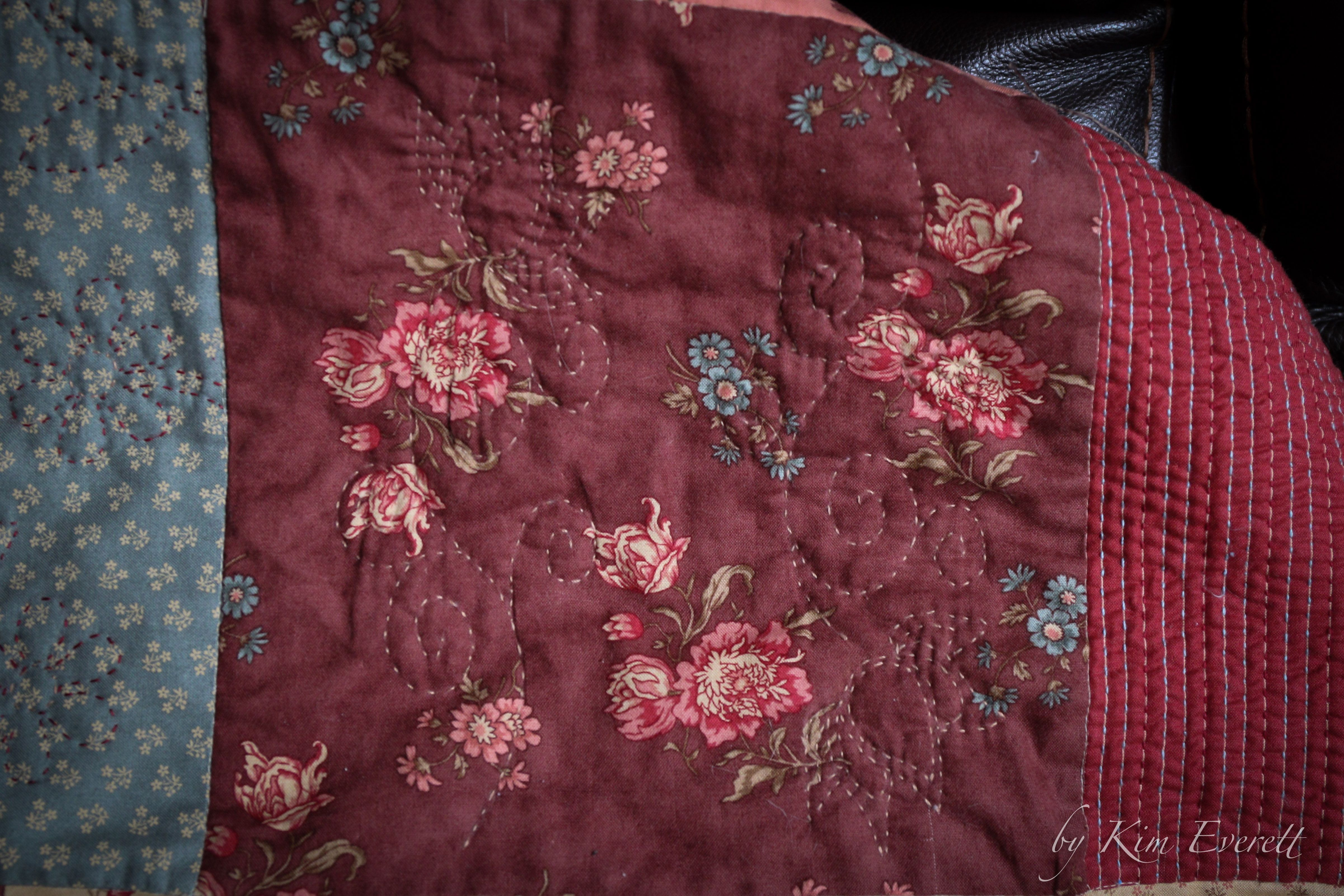 Hand quilting quilt simple quilt pattern lemon layer cake precut