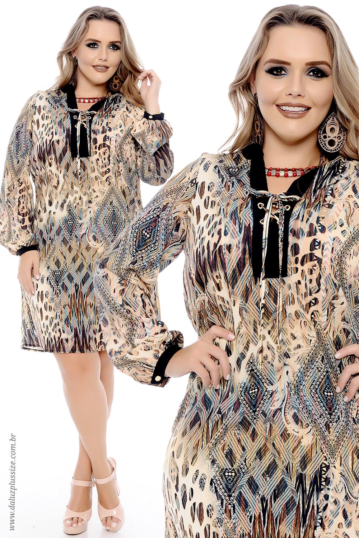 Vestido plus size lange coleção outonoinverno