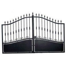 Portail Battant Fer Rossignol Noir L 300 Cm X H 212 Cm Parents