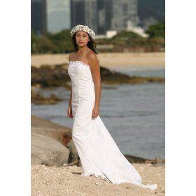 Custimezed Wedding Dress At Reasonable Price Kawehi Holoku Hawaiian White Beach Apparel