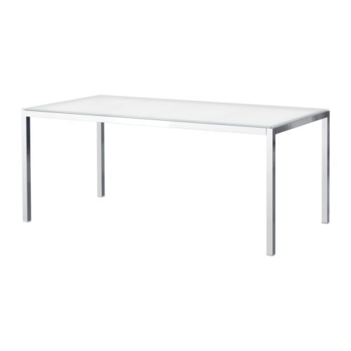Beistelltisch metall ikea  TORSBY Table, chromé, verre blanc | Chrome plating, Glass and ...