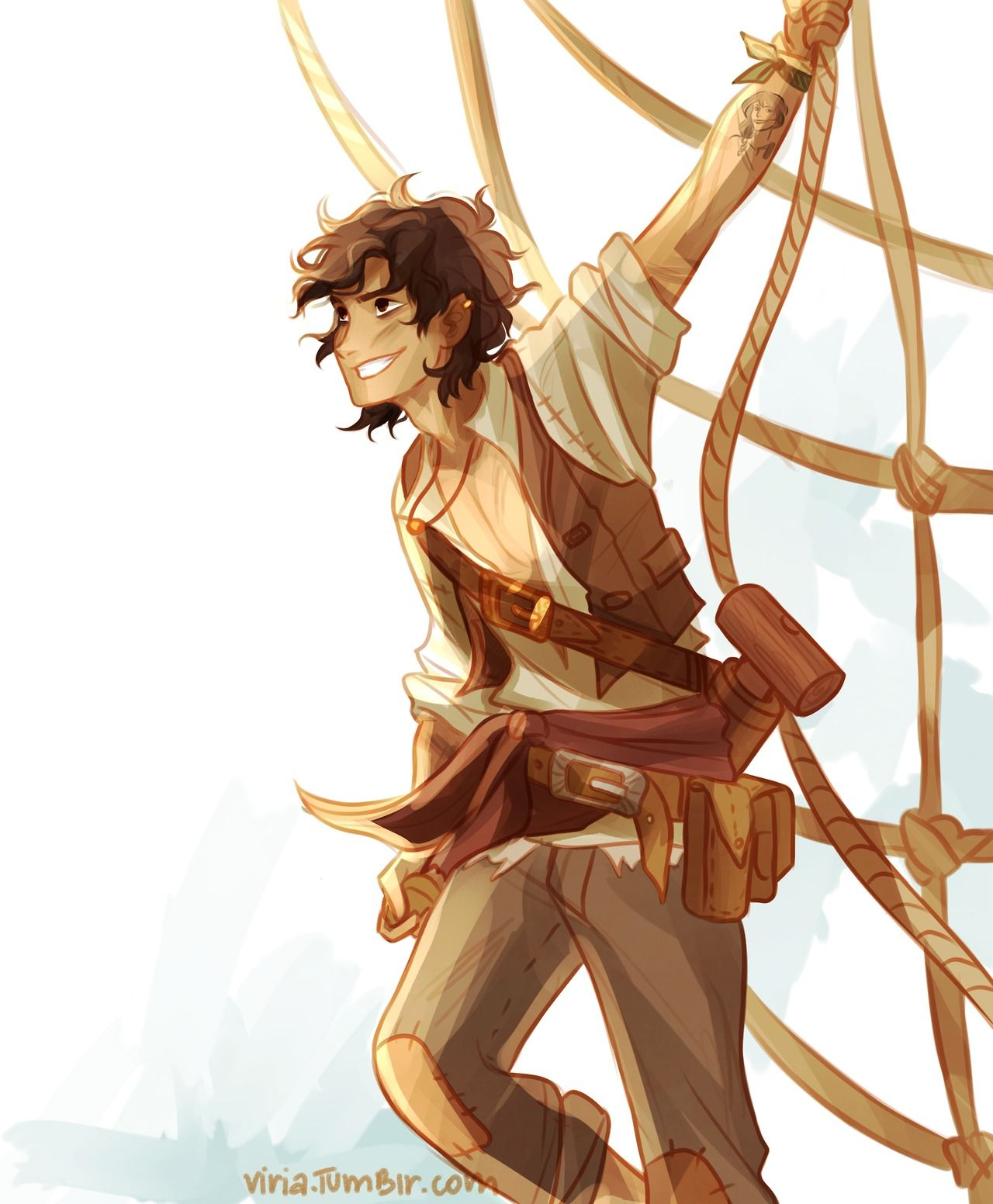 pirate!Leo for reasons. by Viria on tumblr