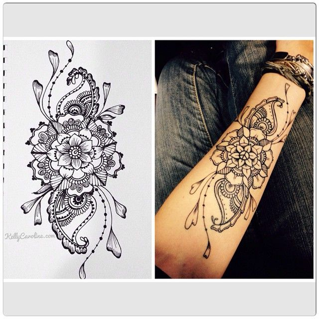 5 Henna Tattoo Inspired Tattoos Mandalas And Unique Flower Designs Henna Tattoos You Will Love Tattoos Cool Henna Tattoos Henna Tattoo