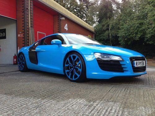 Sky Blue R8 Audi