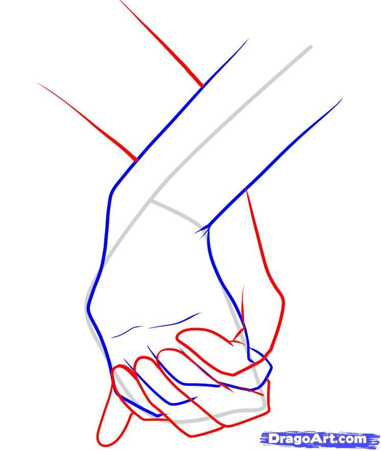 How To Draw Holding Hands Step 10 Drawings Pinterest Drawings