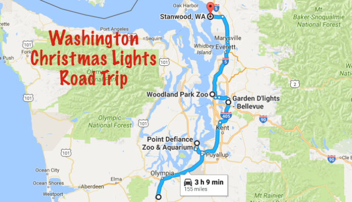 The Christmas Lights Road Trip Through Washington That s Nothing