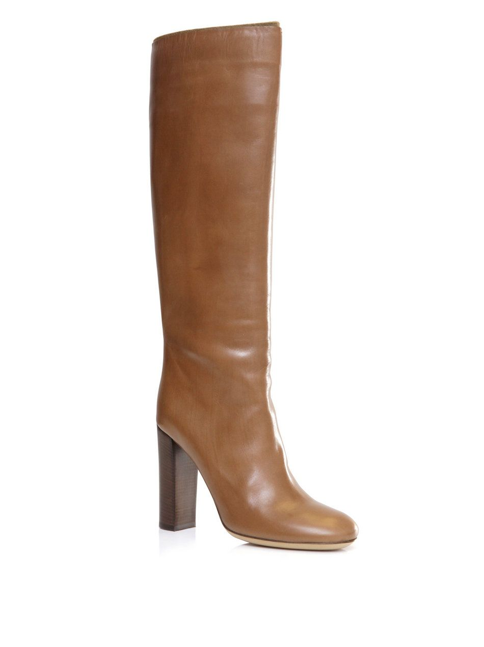 efc5ae15ff1 Chloé Leather Kneehigh Boots in Brown (tan)