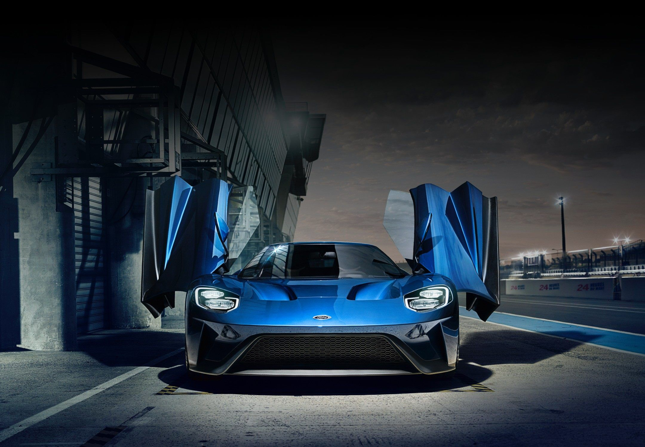 Ford G T At Racetrack With Doors Open Ford Gt Ford Sport Ford Sports Cars