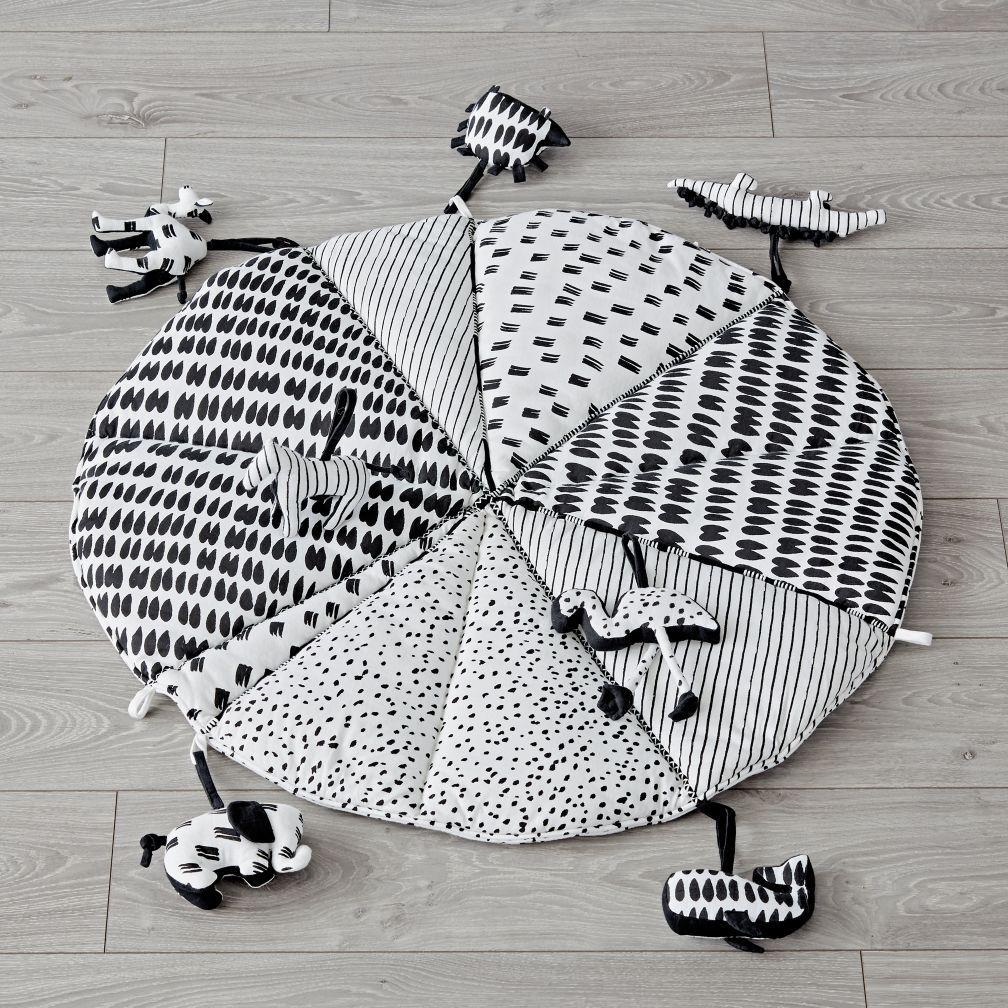 Images Landofnod Com Is Image Landofnod Baby Toys Mat With Rattles Black And White Baby Toys Diy Diy Baby Blanket Diy Baby Stuff