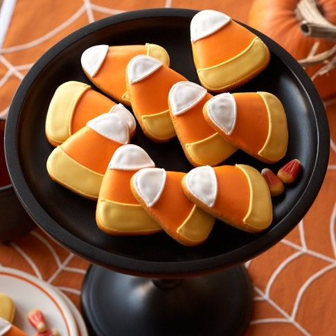 Candy Corn Cookies from Williams-Sonoma~these are cute! #halloween