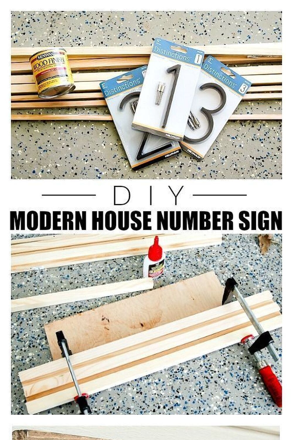 How to Make a Modern House Number Sign How to make a modern house number sign from square dowels. #diyhousenumber #curbappeal #frontporch #porchdecor #diy Build – Fix – Do#Modern #House #Number #Sign Source by uglyducklingdiy