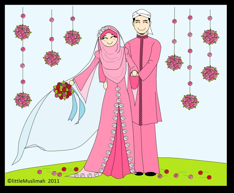 Gambar Kartun Pernikahan Romantis Banget Pernikahan