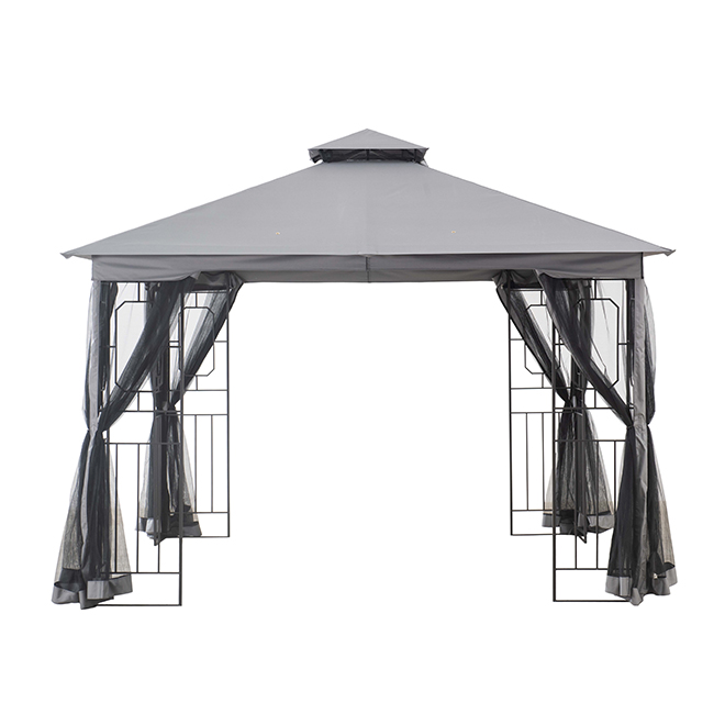Style Selections Sun Shelter With Netting 10 X 10 Black Grey A101009400 Reno Depot In 2020