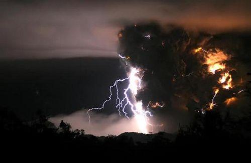 Chilean Volcanic Thunderstorm