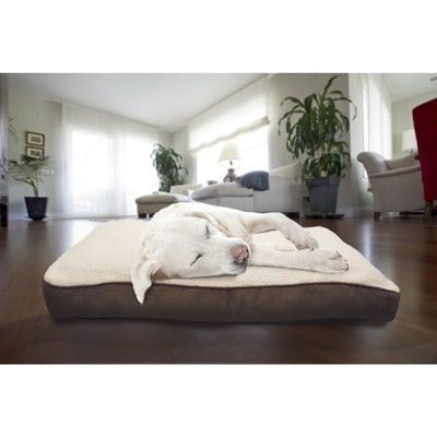 FurHaven Pet Bed | Faux Sheepskin & Suede Deluxe Pillow Dog Bed