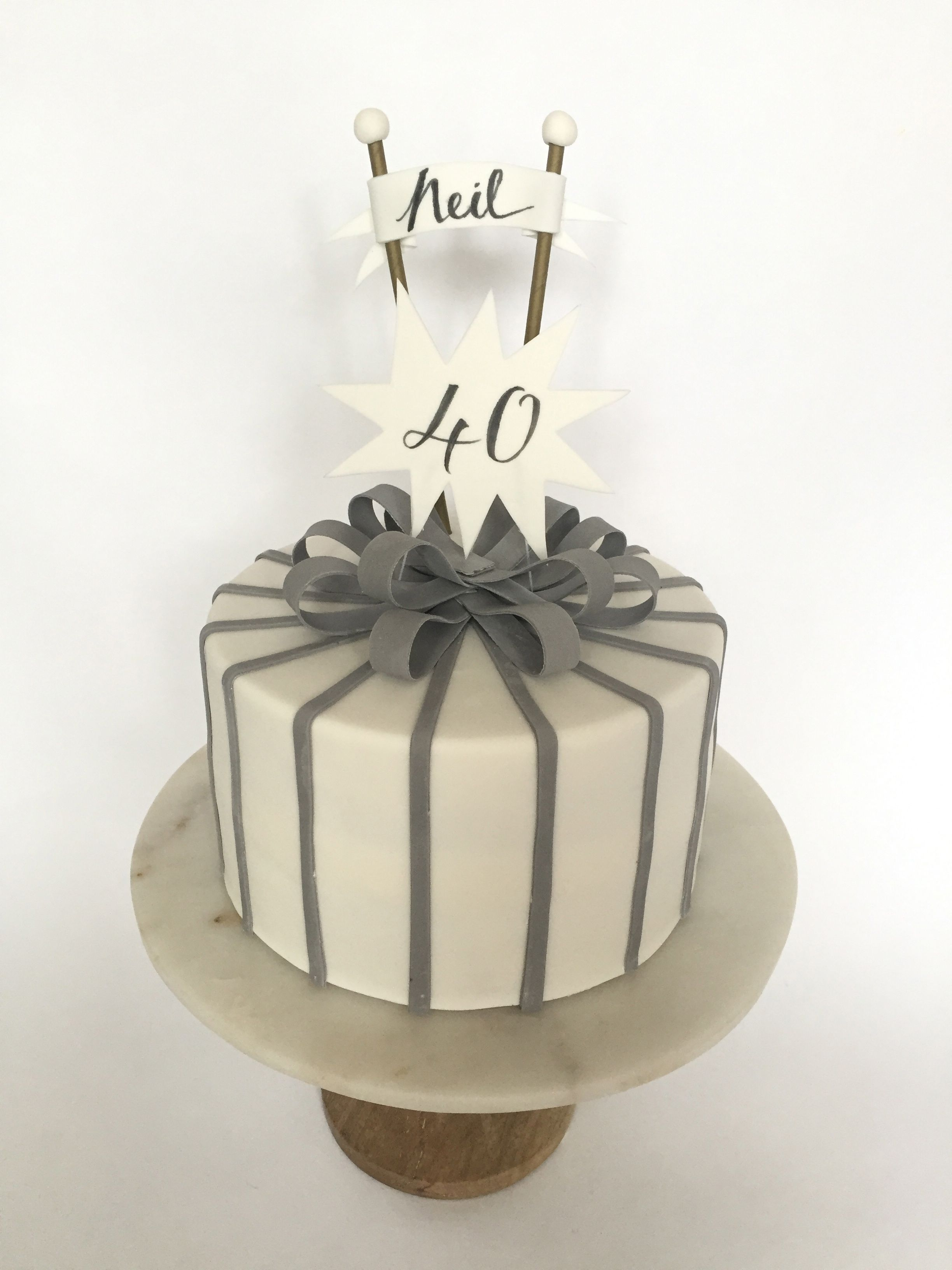 Big Day With Images 40th Birthday Cakes